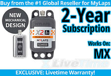 MyLaps X2 MX (Motocross) Rechargeable Transponder w/ 2-year Subscription -AMB