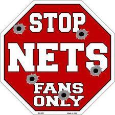 NBA Basketball Brooklyn Nets Metal Stop Sign Man Cave Garage Barn Shop BS260