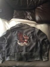"Mens ""Harley Davidson"" Distressed Leather Jacket (big/tall)"