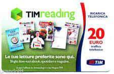 READING RICARICA TIM LETTURE PREFERITE 20 EURO