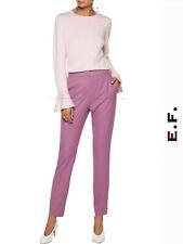 """🔷 MAX MARA Original Pants 10USA 44IT 12GB 40D  """"BABA""""  Wool-Twill 100% in Pink"""