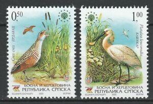 Bosnia and Herzegovina Serbian 2005 Birds 2 MNH stamps