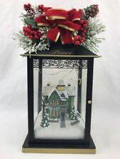Thomas Kinkade Illuminated Holiday Sparkle Of The Season Centerpiece - PEACE -