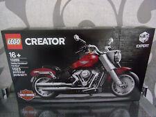 Lego Harley Davidson Fat Garçon Créateur Exclusif Set et 10269
