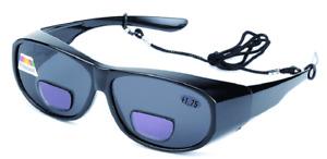 Bifocal Polarised Sports Sunglasses Black Fishing UV400 Wrap Eye Protection