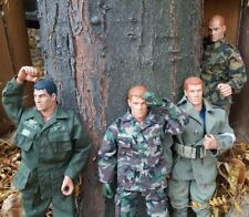 """1996 12"""" Inch GI Joe Action Figures Army air force Doll Fatigues Lot Of 4 medic"""