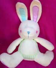 TINY TED IN THE BAG BABY BUNNY RABBIT CREAM WHITE PINK GREEN SOFT TOY TEDDY