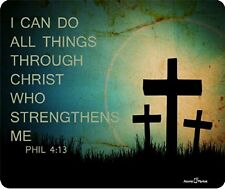 Phil 4:13 I can Do All Things Through Christ Who Strengthens Me Mousepad by Atom