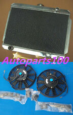"For HOLDEN GEMINI RADIATOR MANUAL WITH 2*9"" FAN 56MM 3 ROW ALLOY ALUMINIUM"
