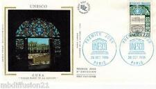 1985**ENVELOPPE SOIE**FDC 1°JOUR!!**UNESCO**TIMBRE Y/T 89
