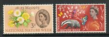 GB 1963 national nature week phosphor unmounted mint set stamps