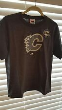 Calgary Flames Boys Large T-Shirt NHL + Glows on the Dark / NWT / Charcoal Gray
