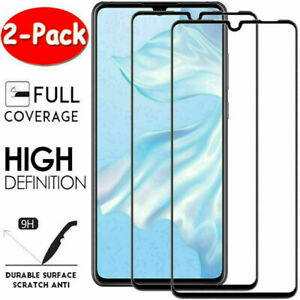 2Pcs FULL COVER Tempered Glass Screen Protector For Huawei P40 Pro P30 Lite P20