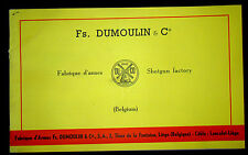 Vintage 1961 Fs DUMOULIN & Co Shotgun Factory Catalogue  Catalog