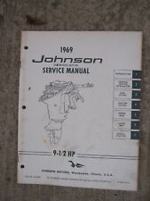 1969 Johnson 9 1/2  HP Outboard Motor Service Manual MORE BOAT ITEMS IN STORE  U