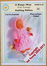 DOLLS KNITTING PATTERN BABY BORN BY Val Young(Daisy May No 305 16-18 inch doll