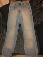 Mens 32w Ted Baker Jeans 32L 32/34.5 Long Leg Designer Jeans In Ted We Trust