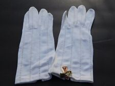 CRESCENDOE LADIES CREAM 100% NYLON DRESS GLOVES UNLINED SIZE 6.5
