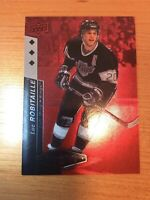 UD BLACK DIAMOND 2010-2011 LUC ROBITAILLE HOCKEY CARD #143 NUMBERED 005/100