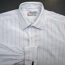 TURNBULL & ASSER Color Stripe White French Cuff Mens Dress Shirt England 16.5 42