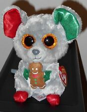 """Ty Beanie Boos - MAC the 6"""" Christmas (Holiday) Mouse ~ 2016 NEW MWMT'S~ IN HAND"""