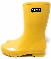 Roma Womens Emma Tall Knee High Pull On Rubber Rain Boot Yellow Size 5