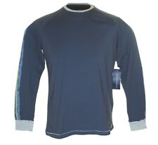 New Mens Fcuk French Connection Long Sleeved T Shirt Top RRP£40 Blue Embroidered