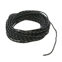 2.5mm 50ft Camping Tent Reflective Guyline Rope Awning Tarp Paracord - Black