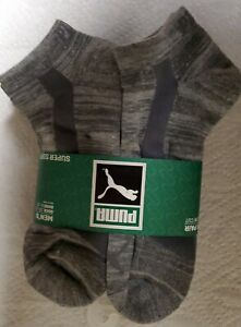 Puma 6 Pair Men's Low Cut Socks Shoe Size 6-12