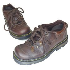 Dr Doc Martens Oxfords Womens 9 EU 41 Leather Brown Chunky Work 9A86 Cottagecore