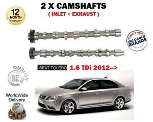 FOR SEAT TOLEDO 1.6 TDI 2012 > NEW INLET + EXHAUST 2X CAMSHAFT CAM SET