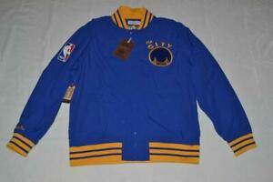 Mitchell & Ness  Authentic Warm Up Jacket Golden State Warriors BLUE XL XLARGE