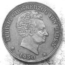 German States / Baden 1830 1 Thaler - Silver (18.0 g, 33 mm) KM#193