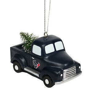 Houston Texans Truck with Tree Christmas - Tree Holiday Ornament FREE SHIPPING