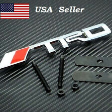 New Chrome Metal TRD Fit For Toyota Front Grille Grill Badge Logo Emblem