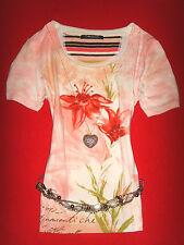 BETTY BARCLAY SHIRT ROMANTIK BOHO BLUMEN ROSÉ M 38 NEUW.!!! TOP !!!