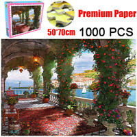 1000 Pieces Jigsaw Puzzles Educational Toy Scenery Rose Corridor Educational Toy