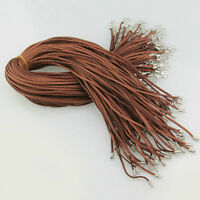 10/50pcs Black Brown Suede Leather String Necklace Cord Jewelry Making DIY POP
