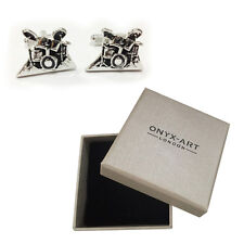 Mens Drum Kit Musician Novelty Cufflinks & Gift Box By Onyx Art