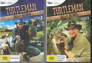 2 x TURTLEMAN Call Of The Wildman DVD Sets - Series 1 (2 x DVD) & 2 (3 x DVD)