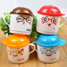 Kids Childrens Cartoon Creative Drinking Cup With Lid Travel Hot Cold Drinks