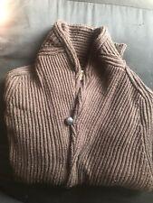 Hill Flint Brown Button Sweater