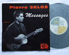 """Pierre SELOS Messages ORIG 33 t 25 cm (10""""LP) UNIDISC 25 115 (1960)"""