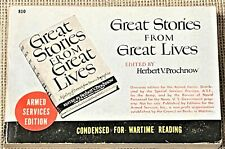 Herbert V Prochnow / GREAT STORIES FROM GREAT LIVES 1944