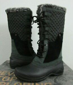 Womens The North Face TNF Shellista III Waterproof Winter Insulated Boots Black