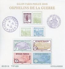 France 2018 MNH Salon Paris Philex War Orphans WWI WW1 8v M/S Military Stamps