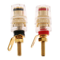 2pcs 4mm Banana Plug Jack Socket Binding Post for Speaker Amplifier Terminal