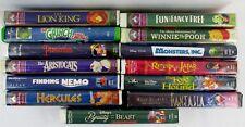 Lot 13 Walt Disney childrens animated VHS movies Monsters Inc Return to Jafar