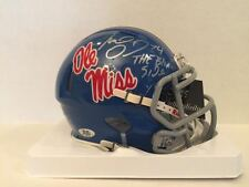 MICHAEL OHER SIGNED OLE MISS MINI HELMET THE BLIND SIDE INSCR. COA / HOLOGRAMS