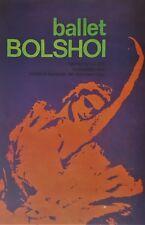Cuban Art. Print of a poster by Consejo de Cultura. Ballet Bolshoi, 1968.